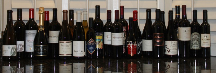 A wonderful selection of wines from the central coast.